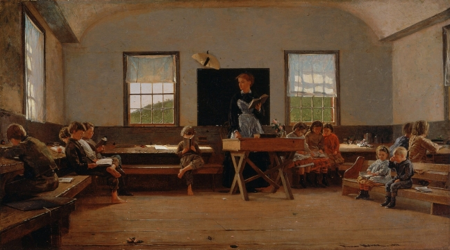 Winslow Homer, The Country School (1871), λάδι σε καμβά, 54 × 97.2 εκ.